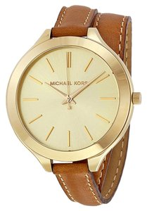 Michael Kors Michael Kors Runway Tan Leather Ladies Watch MK2256