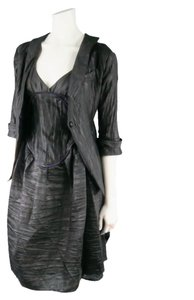 Jeffrey Sebelia Jacket Texture Party Cocktail Twopiece Dress