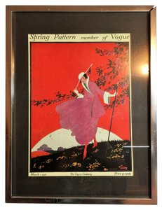 Other Vogue Vintage Framed Print; March 1, 1916 (Artist: Helen Dryden, Printed & Framed; 1975) [ Roxanne Anjou Closet ]