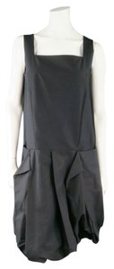 Marni short dress Charcoal Pleated Sleeveless Avant Garde Oversized Italian on Tradesy