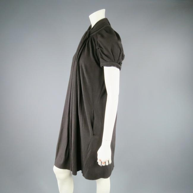 Marc Jacobs short dress Brown Draped Drape Turtleneck Sleeves Winter on Tradesy