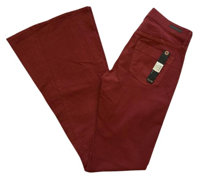 Item - Deep Red / Wine Angie Super Flare Leg Jeans Size 28 (4, S)