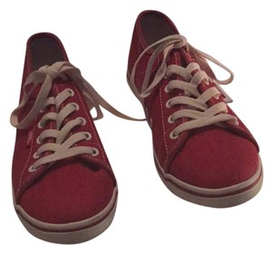 Vans Washed Canvas Red Athletic