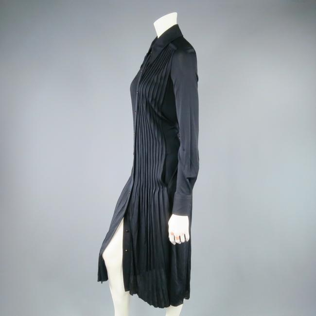 Marc Jacobs Retro Shirt Button Up Pleated Sleeves Dress