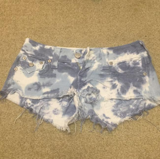 True Religion Cut Off Shorts Blue, white