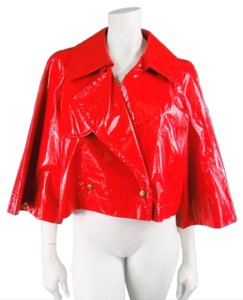 Lanvin Glossy Patent Shiny Red Jacket