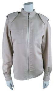 Lanvin Flight Pleated Pleat Pad Epaulet Khaki Jacket