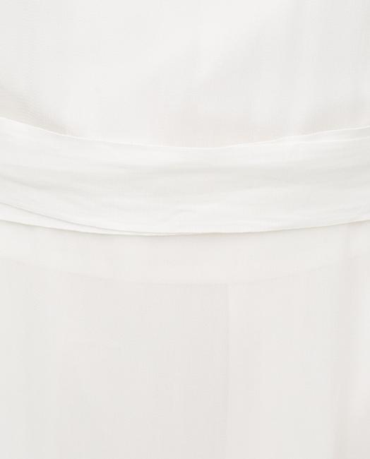 Zara short dress White Tunic Embroidered Summer on Tradesy