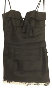 BCBGeneration Mini Strapless Lace Tiered Dress