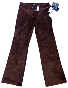 Dolce&Gabbana Suede Made In Italy Wide Leg Pants Brown