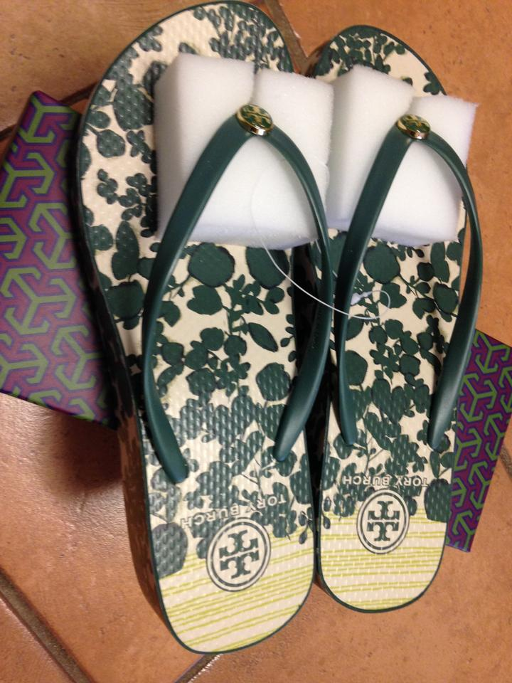 0920ce9a5 Tory Burch Thandie Wedge Flip-flop Sandals Size US 9 - Tradesy