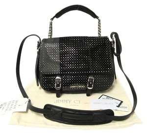 Jimmy Choo Perforated Patent Leather Cross Body Bag