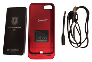 mophie Mophie Red Product Battery Charger Case For Iphone 5/5s