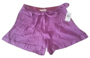 MM Couture Pink Cuffed Bows Silk Bow Ties Pockets Miss Me Pink Xs 0 25 Tie Belt Dress Shorts Purple Magenta