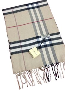 Burberry Scarf Giant Check Beige Burberry Heritage Check Cashmere Scarf Beige
