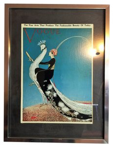 Vogue Vintage Framed Print; November 15, 1911 (Artist: George Wolfe Plank, Printed & Framed; 1975) [ Roxanne Anjou Closet ]