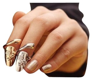 Other Fashionable Dragonfly Rhinestones Flower Nail Gold Ring
