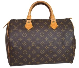 Louis Vuitton Lv Monogr Speedy Louis Brown Clutch