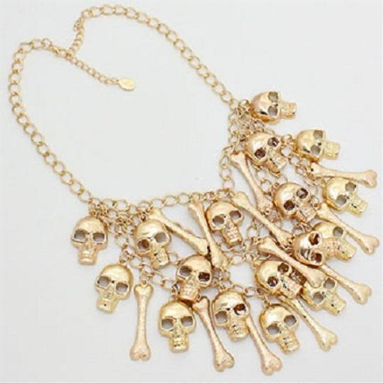 Other Skulls...Bones.Chains Necklace And Earrings Halloween Party Jewelry