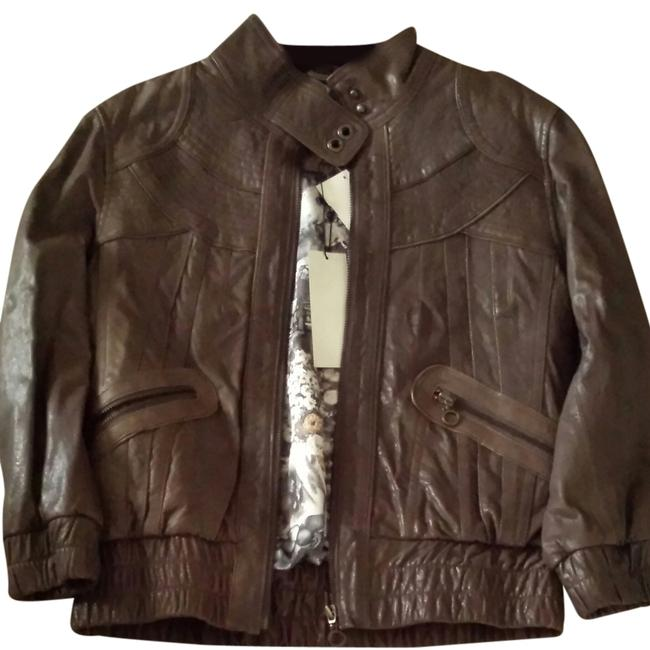 MM Couture Grey Leather Jacket