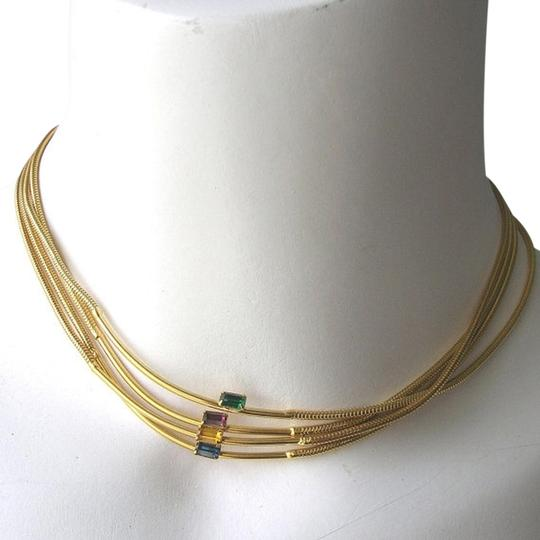 Preload https://item2.tradesy.com/images/emerald-sapphire-topaz-amethyst-vintage-70s-rhinestone-bar-eternity-snake-chain-necklace-520751-0-0.jpg?width=440&height=440
