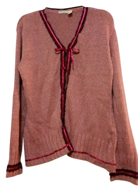 Preload https://item5.tradesy.com/images/putumayo-cardigan-mauve-with-maroon-ribbon-embellishment-5207749-0-0.jpg?width=400&height=650