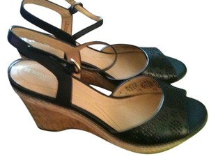 Naturalizer Leather Sandal Black Wedges