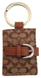 Coach Photo key fob in signature print