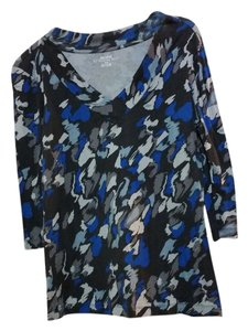 Daisy Fuentes T Shirt Blue, Black and Gray