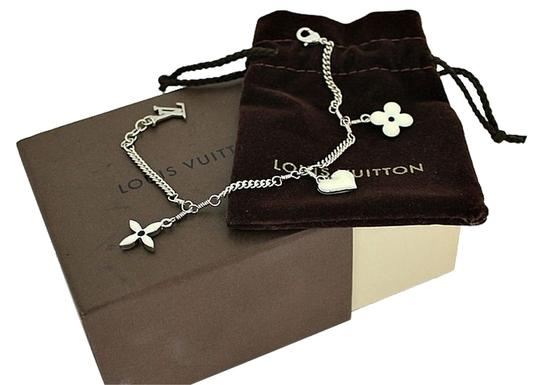 Preload https://item3.tradesy.com/images/louis-vuitton-white-silver-enamel-monograms-and-heart-charms-bracelet-5208187-0-0.jpg?width=440&height=440