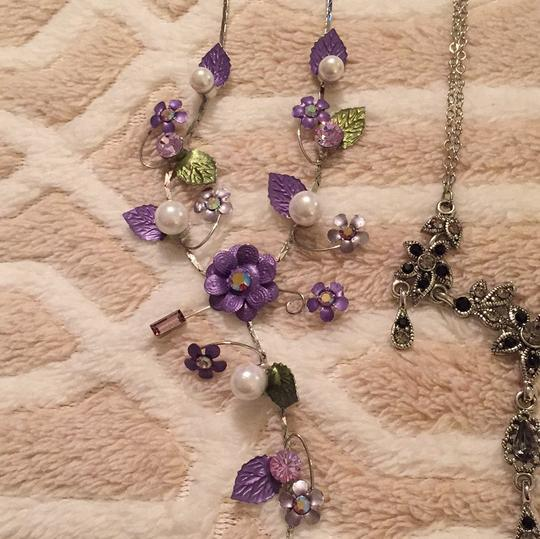Crystal Necklaces TWO Crystal Costume Jewelry Necklaces