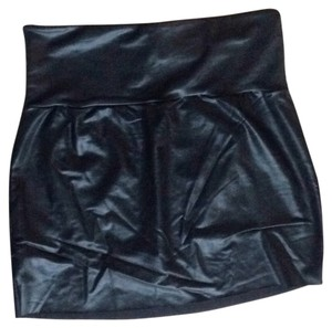 American Apparel Mini Skirt Shiny Black