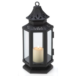 New In Box! 10 Detailed Candle Lanterns (black)