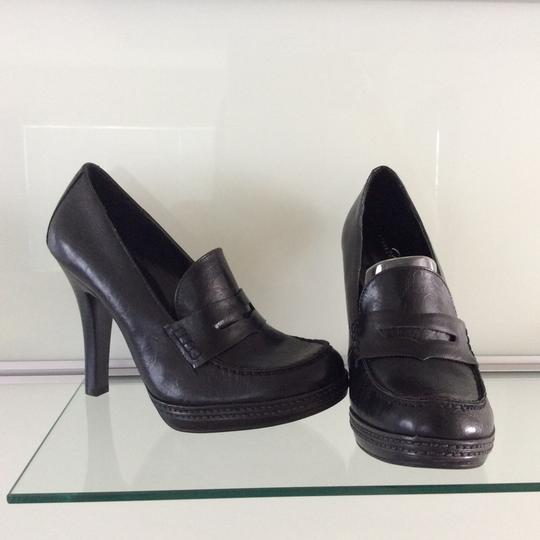Studio Paolo Penny Loafer Black Pumps