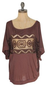 Anthropologie Summer Top BROWN