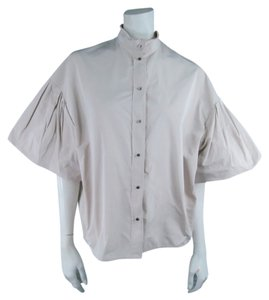 Lanvin Sleeves Boxy Conceptual Button Down Shirt Khaki