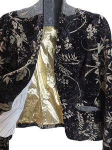 True Meaning Black and gold pattern Jacket