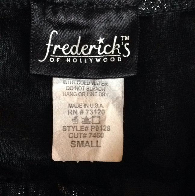 Frederick's of Hollywood Black metallic Leggings