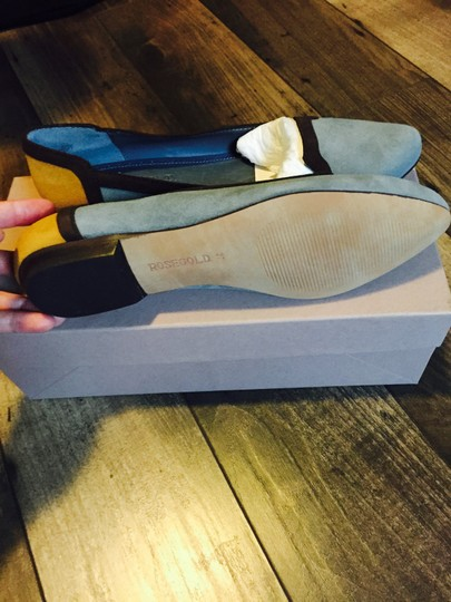 Rose gold Grey with brown trim Flats Image 2