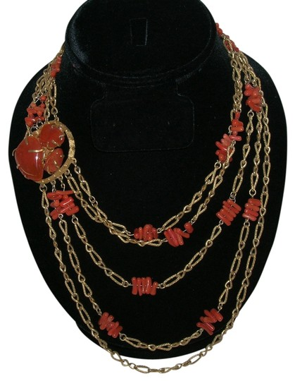 Preload https://item4.tradesy.com/images/coral-vintage-branch-5-strand-festoon-runway-carnelian-clasp-necklace-520913-0-0.jpg?width=440&height=440