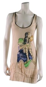 Prada short dress Beige Graphic Tshirt Floral Image on Tradesy