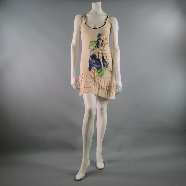 Prada short dress Beige Graphic Tshirt Floral Image Oversized on Tradesy