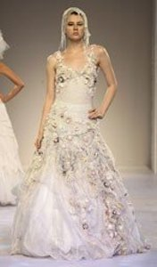 Other Organza *couture* Whimsical Antique Style Gown Vintage Wedding Dress Size 6 (S)