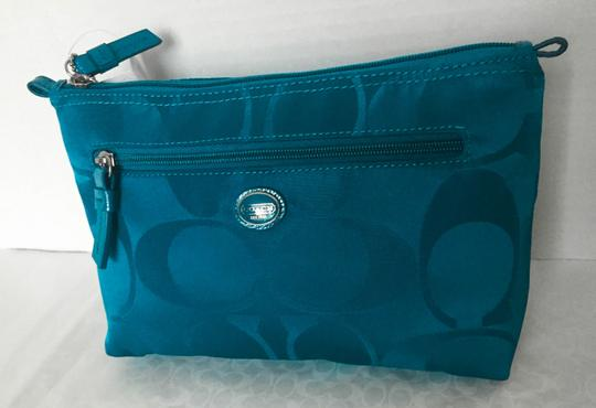 Coach Nylon Zip Cosmetic Pouch