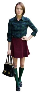 Marc Jacobs A-line Corduroy Fall Mini Mini Skirt marsala