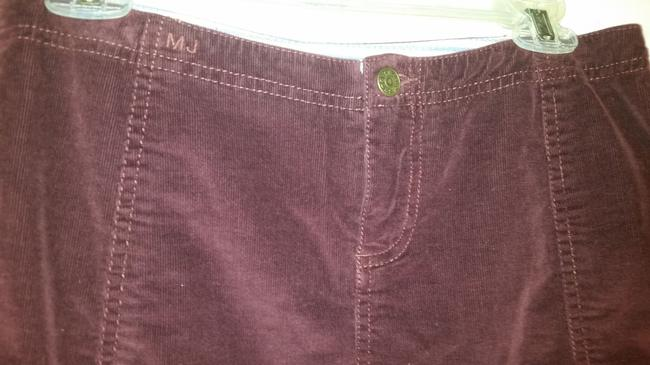 Marc Jacobs A-line Corduroy Fall Mini Cotton Mini Skirt marsala
