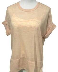 Sugarlips Cap Sleeve Tee Top tan