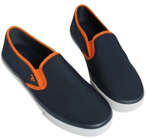 Tory Burch NAVY ORANGE Flats