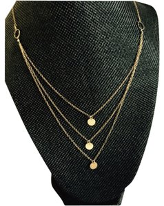 Layered necklace 3 Layered gold colored necklace