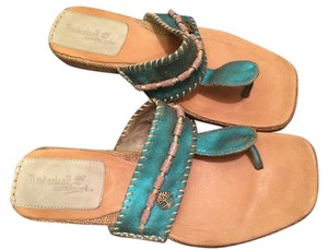 Timberland Limited Edition Metallic Turquoise Flats